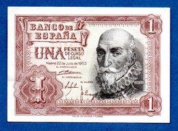 Espagne-  1 Pesetas 22 / 7/1953  - Pick # 144  - état SUP - [ 3] 1936-1975 : Regency Of Franco