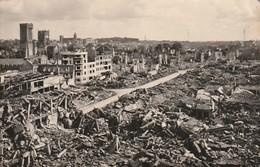 Rare Cpa Caen La Rue St Louis Et Le Quartier St Jean Après La Bataille - 1939-45