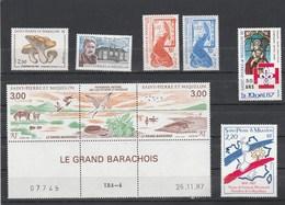 Saint Pierre Et Miquelon Yvert  N°  ** 475 +476 + 480 + 481 + 483 Et  485A ** Bas De Feuille - St.Pierre & Miquelon
