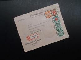 D.R. Mi 193y/ 243/ 198xb/ 194y/194y - Danzig - 1935 - Mi 54,50 € - Schweizerisches Konsulat Danzig - Danzig