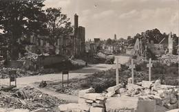 Rare Cpa Caen Après La Bataille à Travers Les Ruines - 1939-45