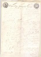 Akte Verkoop Grond - Verhavert Steenhuffel - Van Overstraeten - Van Gyzegem  - Notaris F. P. De Amandel Londerzeel 1820 - Vieux Papiers