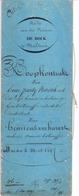 Akte Verkoop Bos - Molenaar Henri Verhavert Steenhuffel - Notaris De Bock Malderen 1847 - Vieux Papiers