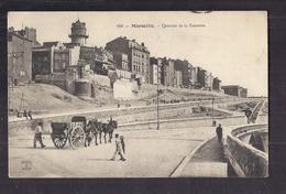 CPA 13 - MARSEILLE - Quartier De La TOURETTE - TB PLAN Avec Détails Habitations + ANIMATION ATTELAGE + TB Verso - Marseille