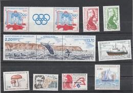 Saint Pierre Et Miquelon 1988 Yvert  N°  486 + 487A + 488 à 493 + 495A  ** - St.Pierre & Miquelon