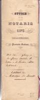 Akte Vereffening - Weduwe & Kinderen Petre Verhavert Steenhuffel - Notaris Antonius Kips Grimbergen 1829 - Vieux Papiers