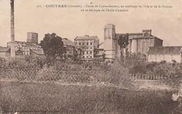 Rare Cpa Coutras Usine De Laubardemont Fabrication D'huile D'arachide - France