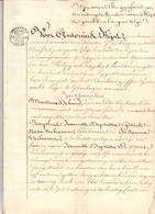Akte - Kavelbrief - Rosa Verhavert Steenhuffel - Notaris Antonius Kips Grimbergen 1829 - Vieux Papiers