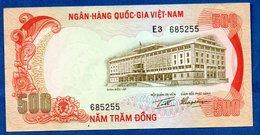 Viêt-Nam  -  500 Dong 1972    - Pick # 33    - état  TTB - Viêt-Nam