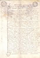 Akte - Verkoop Partije Land - Masselaar Molen Steenhuffel - Notaris Guillaume De Landsheere Opwijk 1818 - Vieux Papiers