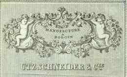 UTZSCHNEIDER    Manufacture  De Digoin   SARREGUEMINES   Belle Illustration Angelots 1894 - Lettres De Change