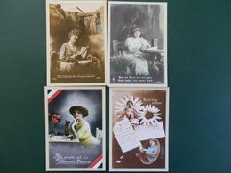 KARTONNEN DOOS  SUISSE     4 CP   1914/8 HOMMAG AUX COMBATTANTS - Marcophilie (Lettres)