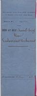 Akte - Kavelbrief Ludo Verhavert - Steenhuffel - Notaris Sacré Merchten 1850 - Vieux Papiers