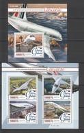 ST074 2016 GUINEE GUINEA TRANSPORT AVIATION CONCORDE 1KB+1BL MNH - Concorde