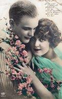 Liebespaar Mit Blumen Und Sinnspruch - Wir Sind Jung 1927 - Paare