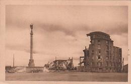 Rare Cpa Caen Place Du Maréchal Foch Après La Bataille - 1939-45