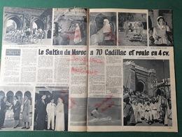 1952 LE SULTAN DU MAROC À 70 CADILLAC - LES GUIDES DE MONTAGNE - RITA HAYWORTH - Journaux - Quotidiens