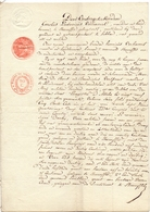 Akte - Tussen Broers - Verhavert - Mulders Steenhuffel - Watermolen - 1840 - Vieux Papiers