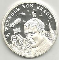 Werner Von Braun, Geschichte Der Raumfahrt, Ag.999 FS Gr. 9, Cm. 3. - Germany