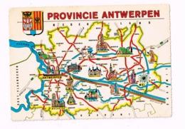 Carte De La Province D'Anvers. - Belgique