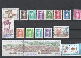 Saint Pierre Et Miquelon 1990 Yvert  N°  513 à 521 + 523 à 527 + 530A + 533  ** - St.Pierre & Miquelon