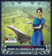 Niger 2016   First Commercial Flight Of Concorde - Niger (1960-...)