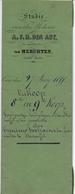 Akte - Verkoping Partije Land Steenhuffel Mulder Verhavert - Notaris Den Abt - 1855 - Vieux Papiers