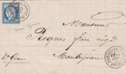 N° 60 S / L Avec Texte. T.P. Ob T 18 Bagnères De Bigorre 15 Juil 76 - Poststempel (Briefe)