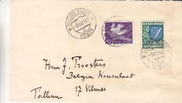 Estonie - Lettre De 1940 - Oblit Tallinn - Exp Vers Tallinn - Armoiries - épée - Oiseaux - Estonie