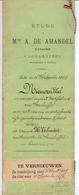 Akte - Rente Kerkfabriek Steenhuffel - Weduwe Verhavert - Notaris De Amandel Londerzeel 1893 - Vieux Papiers