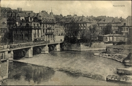 Cp Sedan Ardennes, Maasbrücke, Teilansicht Vom Ort - France