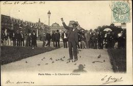 Cp Paris VI., Paris Vécu, Le Charmeur D'Oiseaux, Tauben - France