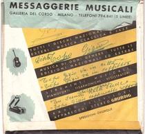 MESSAGGERIE MUSICALI GALLERIA DEL CORSO MILANO BUSTA PORTA DISCHI - Accessori & Bustine