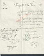 MILITARIA EMPIRE MARINE FREGATE LA VICTOIRE GUERRE 1870 L ISLE D AIX  Mr LAUQUIER MECANICIEN ROCHEFORT 1870 AUTOGRAPHE : - Documents