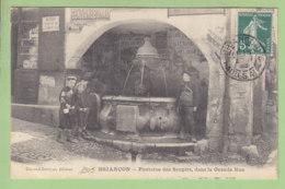 BRIANCON : Fontaine Des Soupirs, Grande Rue, Enfants Et Chasseurs Alpins. 2 Scans. Edition Durand Savoyat, Peu Courant - Briancon