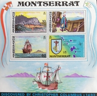 Montserrat 1973 450th Anniversary Of The Discovery Of Montserrat By Columbus S/S - West Indies