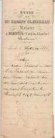 Akte - Verkoop Bos Familie Verhavert Steenhuffel -  Notaris Clavareau Merchtem 1877 - Vieux Papiers