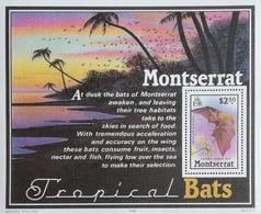 Montserrat 1988  Tropical Bats S/S - West Indies