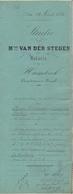 Akte - Verkoop Grond Steenhuffel -  Notaris Van Der Steegen - Humbeek 1880 - Vieux Papiers