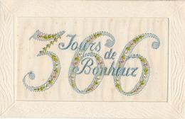 CARTE BRODEE - 366 JOURS DE BONHEUR (ANNEE BISSEXTILE) - Brodées
