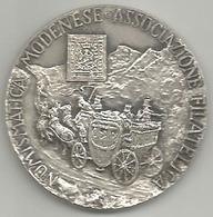 Modena, Associazione Filatelica Numismatica, Fedeltà Associativa, Ag. 900, Gr. 19, Cm. 3,5. - Francia