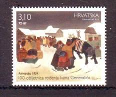 Croatia 2014 Y Art Paintings 100th Ann Of Birth Ivan Generalic MNH - Croatia