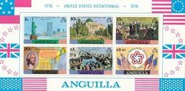 ANGUILLA 217-222,unused - Us Independence