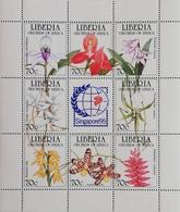 "Liberia  Orchids Singapore""95 M/S - Liberia"
