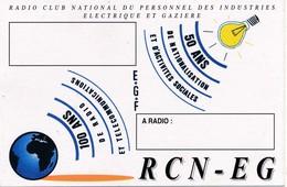 Carte Radio QSL 50Ans De Nationalisation Et D'activités Sociales - Radio