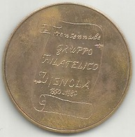 Vignola 1950 - 1980 Trentennale Gruppo Filatelico, Francobollo Provincie Modenesi, Cu., Gr. 12, Cm. 3,3. - Italy