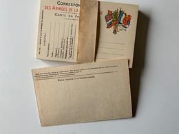 Poste / Carte Postale Franchise Des Armées / Paquet Retrouvé Complet Des 50 Cartes Vierges - Poste & Facteurs