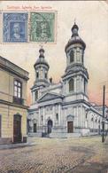 CPA Chili - Santiago - Iglesia San Ignacio - 1910 - Attention Etat/condition - Chili