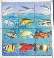 Liberia  1996 Fish Sheet Of 12 - Liberia