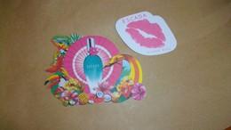 Carte Parfumée Escada 2 Modèles Différents - Cartes Parfumées